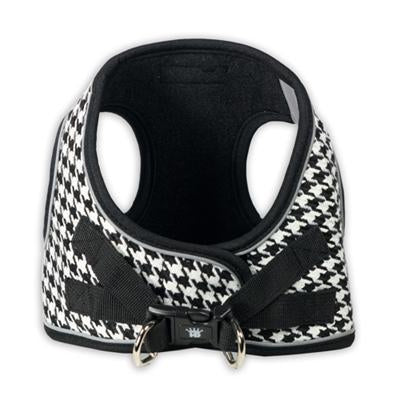 Hip Doggie Inc. Black EZ Reflective Houndstooth Harness Vest -M-Dog-Hip Doggie Inc.-PetPhenom