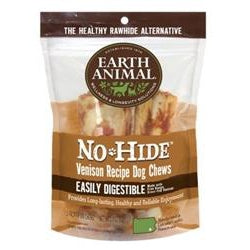 "Earth Animal No Hide Venison Chews Dog Treats, 4"", 2 Pack-Dog-Earth Animal-PetPhenom"