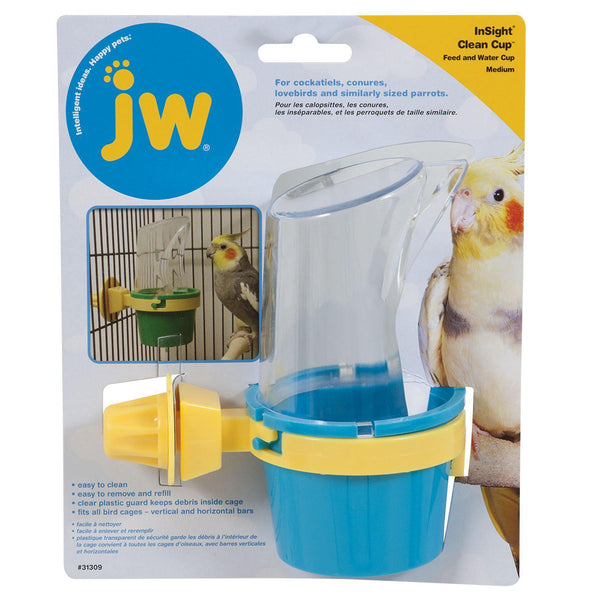 JW Pet Feeder and Water Cup Bird Accessory, Medium, Colors may vary-Bird-JW Pet-PetPhenom