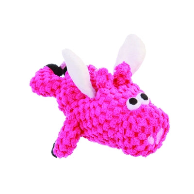 GoDog™ Toys GoDog™ Just for Me Checkers Flying Pig with Chew Guard-Dog-GoDog™ Toys-PetPhenom