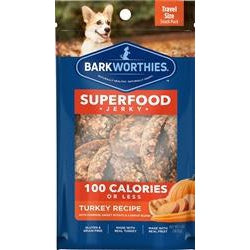 Barkworthies Turkey Jerky Recipe with Pumpkin, Sweet Potato, & Carrot Blend 2-pk.-Flow Pack-Dog-Barkworthies-PetPhenom