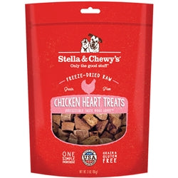 Stella & Chewy's Chicken Hearts Freeze-Dried Raw Dog Treats 3oz-Dog-Stella & Chewy's-PetPhenom