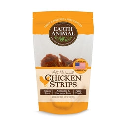 Earth Animal Plain USA Chicken Strip Treats 8oz-Dog-Earth Animal-PetPhenom