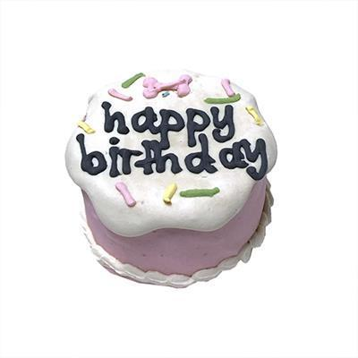 Bubba Rose Biscuit Co. Pink Birthday Baby Cake - Shelf Stable-Dog-Bubba Rose Biscuit Co.-PetPhenom