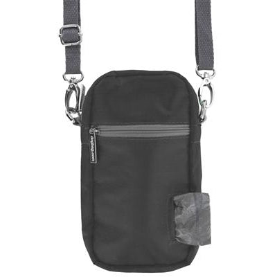 Doggie Walk Bags Cross Body - Black, 1 Refill Gray/Unscented-Dog-Doggie Walk Bags-PetPhenom