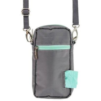 Doggie Walk Bags Cross Body - Gray, 1 Refill Seafoam/Sea Spray-Dog-Doggie Walk Bags-PetPhenom