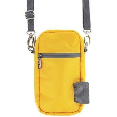 Doggie Walk Bags Cross Body - Yellow, 1 Refill Gray/Unscented-Dog-Doggie Walk Bags-PetPhenom