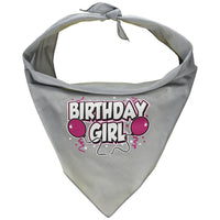 Mirage Pet Products Birthday Girl Screen Print Bandana, Large, Assorted Colors-Dog-Mirage Pet Products-Grey-PetPhenom