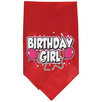 Mirage Pet Products Birthday Girl Screen Print Bandana, Small, Assorted Colors-Dog-Mirage Pet Products-Red-PetPhenom