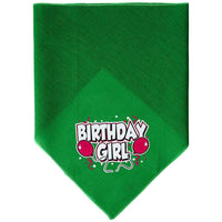 Mirage Pet Products Birthday Girl Screen Print Bandana, Small, Assorted Colors-Dog-Mirage Pet Products-Emerald Green-PetPhenom