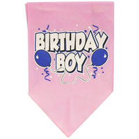 Mirage Pet Products Birthday Boy Screen Print Bandana, Large, Assorted Colors-Dog-Mirage Pet Products-Light Pink-PetPhenom