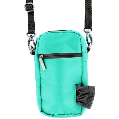 Doggie Walk Bags Cross Body - Seafoam, 1 Refill Gray/Unscented-Dog-Doggie Walk Bags-PetPhenom