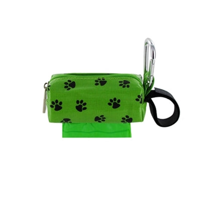Doggie Walk Bags Single SQ Duffel w/ 1 Refill Roll - Green Paw / Rainforest-Dog-Doggie Walk Bags-PetPhenom
