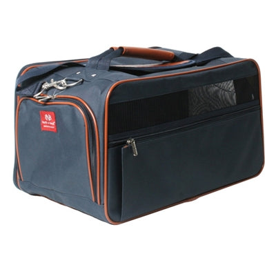 bark n bag® Navy/Saddle Classic Carrier -Small-Dog-bark n bag®-PetPhenom