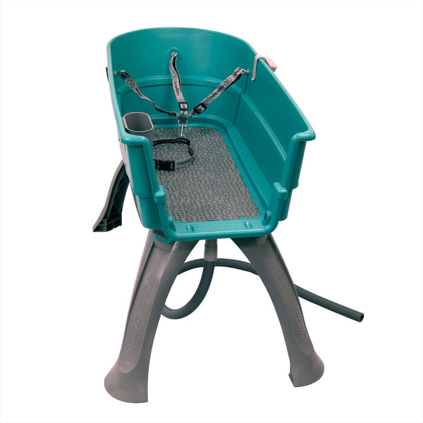 "Booster Bath Elevated Dog Bath and Grooming Center Large Teal 45"" x 21.25"" x 15"""