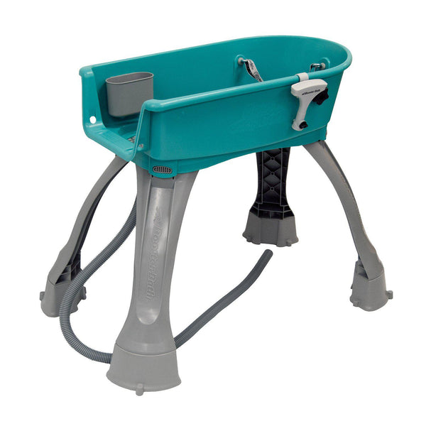 "Booster Bath Elevated Dog Bath and Grooming Center Medium Teal 33"" x 16.75"" x 10"""