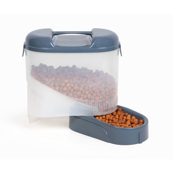 "Bergan Pet Travel Feeder Blue 11.5"" X 11.5"" X 6.3""-Dog-Bergan-PetPhenom"
