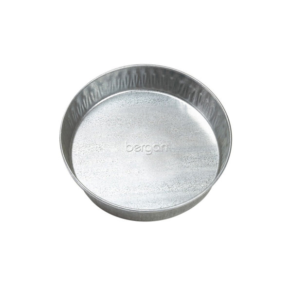 "Bergan Galvanized Pet Pan 3 Quarts Silver 12.5"" x 12.5"" x 2.13""-Dog-Bergan-PetPhenom"
