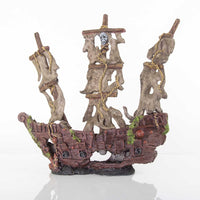 "BioBubble Decorative Mystery Pirate Ship Large 17"" x 6.25"" x 9.75""-Fish-BioBubble-PetPhenom"