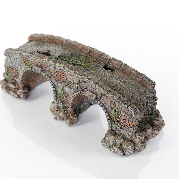 "BioBubble Decorative Old Stone Bridge Small 3.5"" x 3.5"" x 5""-Small Pet-BioBubble-PetPhenom"