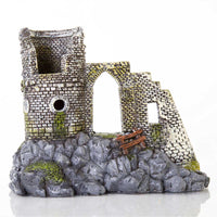 "BioBubble Decorative Mow Cap Castle Small 7.25"" x 4.75"" x 6""-Small Pet-BioBubble-PetPhenom"