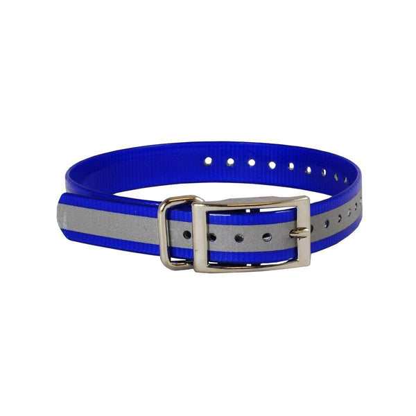 "The Buzzard's Roost Reflective Collar Strap 1"" Blue 1"" x 24""-Dog-The Buzzard's Roost-PetPhenom"