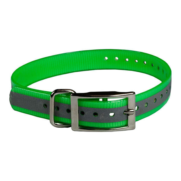 "The Buzzard's Roost Reflective Collar Strap 1"" Green 1"" x 24""-Dog-The Buzzard's Roost-PetPhenom"