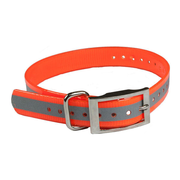 "The Buzzard's Roost Reflective Collar Strap 1"" Orange 1"" x 24""-Dog-The Buzzard's Roost-PetPhenom"