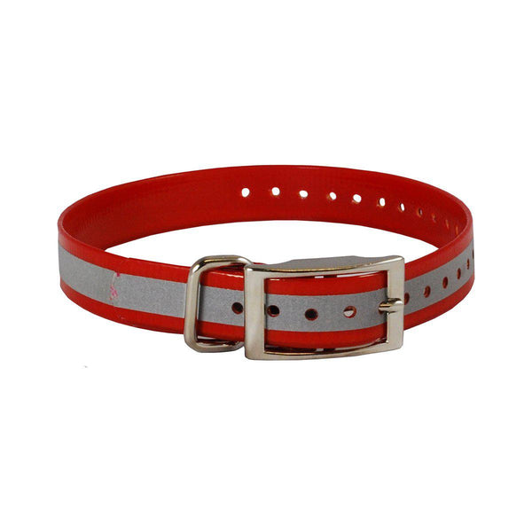 "The Buzzard's Roost Reflective Collar Strap 1"" Red 1"" x 24""-Dog-The Buzzard's Roost-PetPhenom"