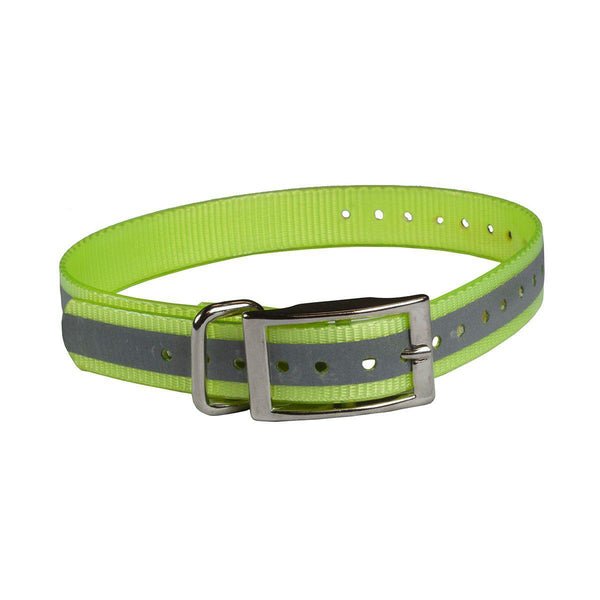 "The Buzzard's Roost Reflective Collar Strap 1"" Yellow 1"" x 24""-Dog-The Buzzard's Roost-PetPhenom"
