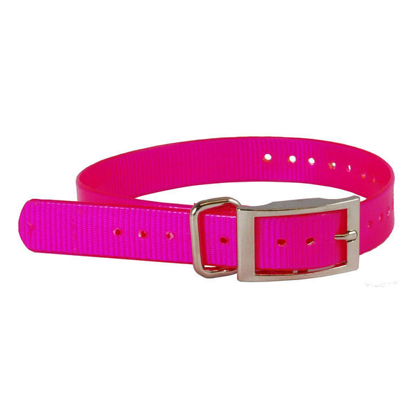 "The Buzzard's Roost Collar Strap 1"" Pink 1"" x 24""-Dog-The Buzzard's Roost-PetPhenom"