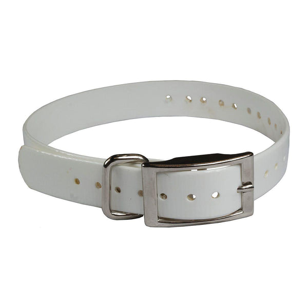"The Buzzard's Roost Collar Strap 1"" White 1"" x 24""-Dog-The Buzzard's Roost-PetPhenom"