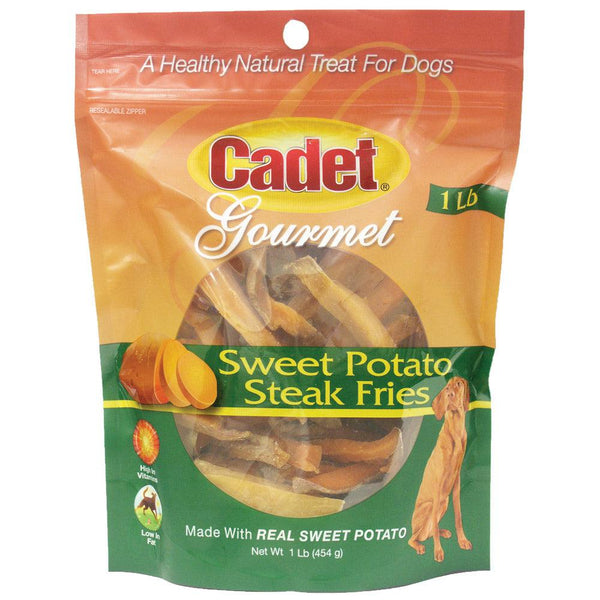 Cadet Sweet Potato Steak Fries Treats 1 pound-Dog-Cadet-PetPhenom