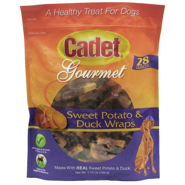 Cadet Premium Gourmet Duck and Sweet Potato Wraps Treats 28 ounces-Dog-Cadet-PetPhenom
