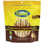 Cadet Premium Gourmet Rawhide and Chicken Twists Treats 50 pack-Dog-Cadet-PetPhenom