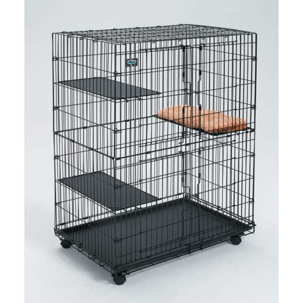 "Midwest Collapsible Cat Playpen Black 36"" x 23.5"" x 50.5""-Cat-Midwest-PetPhenom"