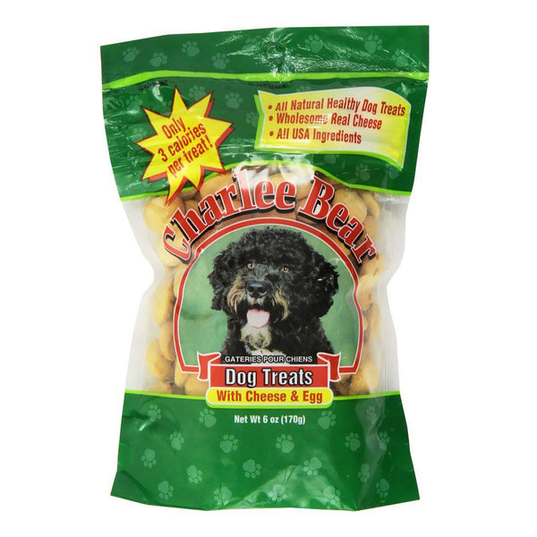 Charlee Bear Dog Treat Cheese and Egg 6oz
