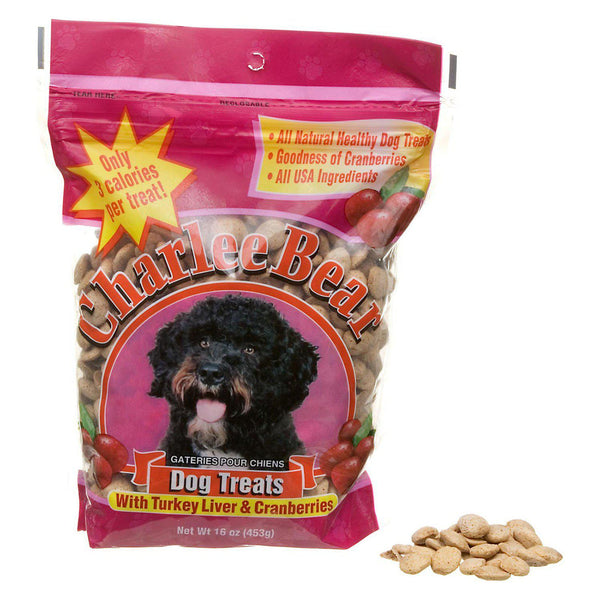 Charlee Bear Dog Treat Liver and Cranberry 16oz-Dog-Charlee Bear-PetPhenom