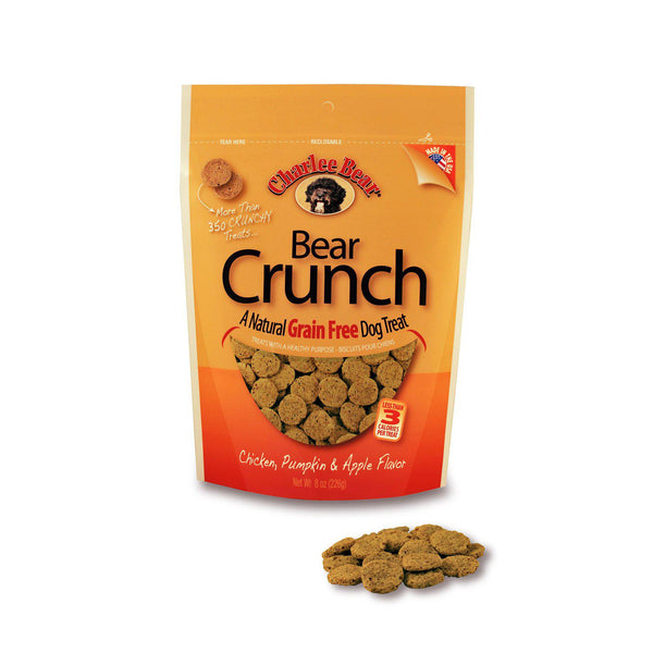 Charlee Bear Grain Free Bear Crunch Chicken, Pumpkin and Apple 8oz-Dog-Charlee Bear-PetPhenom