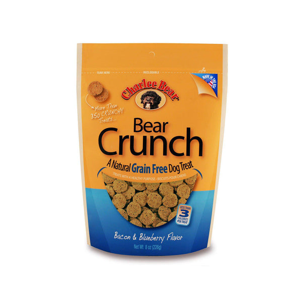 Charlee Bear Grain Free Bear Crunch Bacon Blueberry 8oz-Dog-Charlee Bear-PetPhenom