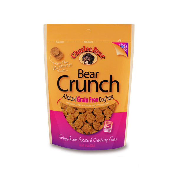 Charlee Bear Grain Free Bear Crunch Turkey, Sweet Potato, Cranberry 8oz