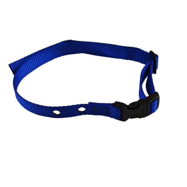 "Custom Collars Adjustable Quick Release Nylon Replacement Collar Strap Blue 24"" x 0.75"" x 0.1""-Dog-Custom Collars-PetPhenom"