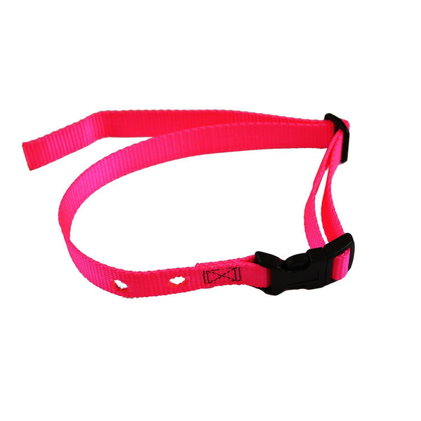 "Custom Collars Adjustable Quick Release Nylon Replacement Collar Strap Pink 24"" x 0.75"" x 0.1""-Dog-Custom Collars-PetPhenom"
