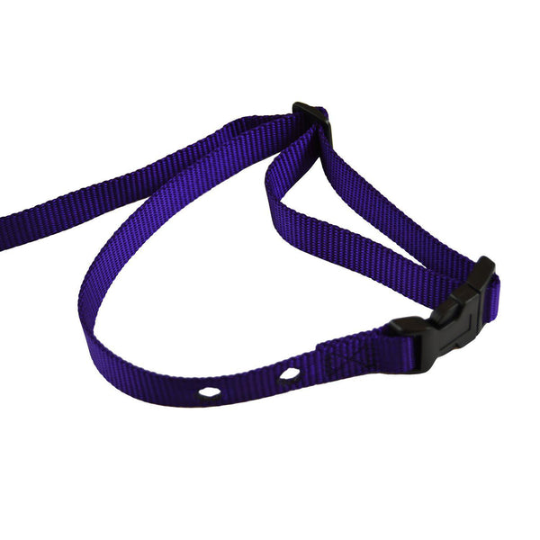 "Custom Collars Adjustable Quick Release Nylon Replacement Collar Strap Purple 24"" x 0.75"" x 0.1""-Dog-Custom Collars-PetPhenom"