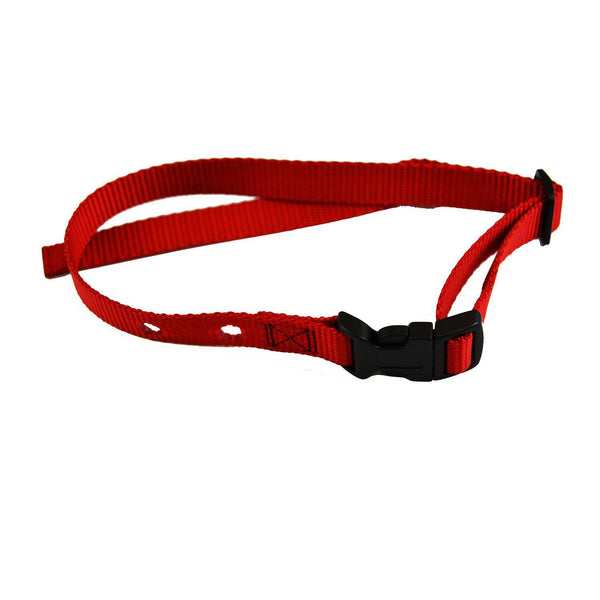 "Custom Collars Adjustable Quick Release Nylon Replacement Collar Strap Red 24"" x 0.75"" x 0.1""-Dog-Custom Collars-PetPhenom"