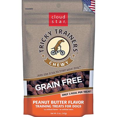 Cloud Star Tricky Trainers Chewy Grain Free Peanut Butter Flavor Dog Treats 5oz-Dog-Cloud Star-PetPhenom