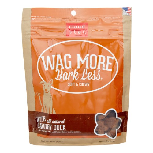 Cloud Star Wag More Bark Less Soft & Chewy with Savory Duck Dog Treats, 6-oz-Dog-Cloud Star-PetPhenom