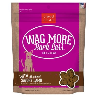 Cloud Star Wag More Bark Less Soft & Chewy with Savory Lamb Dog Treats, 6-oz-Dog-Cloud Star-PetPhenom