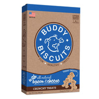 Buddy Biscuits Original Oven Baked Crunchy Teeny Treats Bacon and Cheese 8 ounces-Dog-Buddy Biscuits-PetPhenom