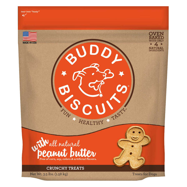Buddy Biscuits Original Oven Baked Crunchy Treats Peanut Butter 3.5 pounds-Dog-Buddy Biscuits-PetPhenom